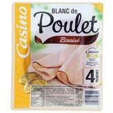 CASINO Blanc de poulet - Braisé - 4 tranches 160g