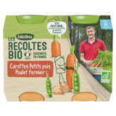 Blédina BLEDINA Les récoltes bio - Carotte Petits pois Poulet fermie... - 2x200g