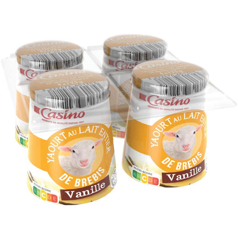 Yaourt au lait de brebis à la vanille