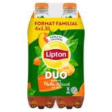 Lipton LIPTON Duo saveur pêche-abricot - 4x1,5l