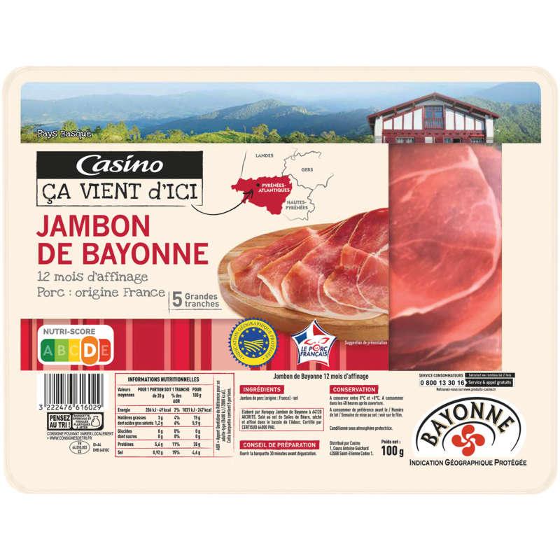 Jambon de Bayonne - Grandes tranches -...