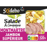 Sodeb'O SODEBO Salade pates œuf salade jambon - 320g