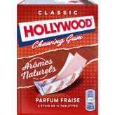 Hollywood HOLLYWOOD Chewing-gum - Parfum fraise - Tablettes - 5x11