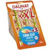 Daunat DAUNAT XXL - Sandwich au thon et crudités - Pain complet - x3