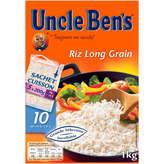 Uncle Ben's Riz Long Grain - Cuisson 10mn - 5 Sachets - 1