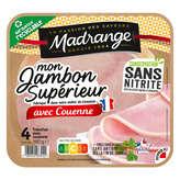 Madrange Le Gourmet - Jambon Blanc - Avec Couenne - 4 Tranc... - 1