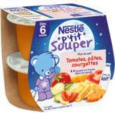 Nestlé Nestle P'tit Souper - Plat Du Soir - Pots Bébés - Tomates, P... - 2x200g