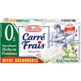 Elle & Vire ELLE & VIRE Carré frais - Ail et fines herbes - 0% mg - 8x25g