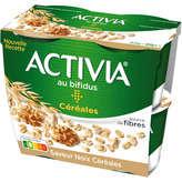 Yaourts saveur noix céréale Activia